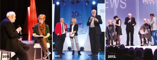 Amir Bećirević je više puta nastupao na pozornicama Hairstyle Newsa. Fotografije s poslovnog seminara 2011. godine i stručnog seminara Idea Akademije 2012. godine u Opatiji te s nastupa u sklopu večernjeg programa Tribute to Vidal Sassoon zajedno sa John Santillijem na velikoj pozornici 2013. godine u Rovinju.