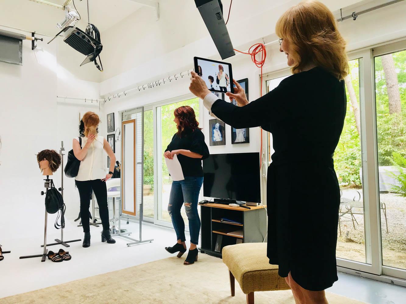 Vivienne Mackinder snima look&learn frizerski seminar