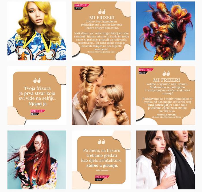 Citati vlasnika frizerskih salona na Instagramu